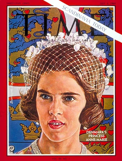 TIME Magazine Cover Princess AnneMarie  July 3 1964