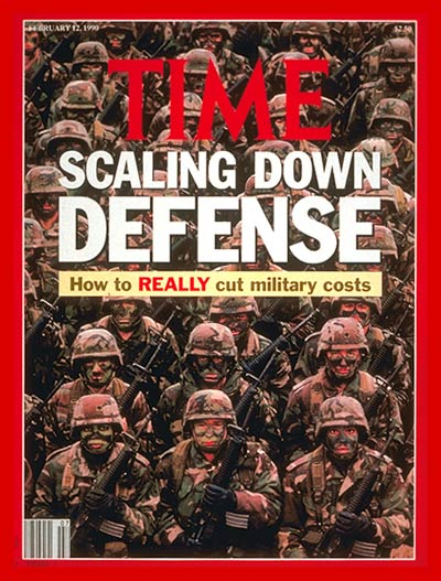 TIME Magazine Cover Military Spending  Feb 12 1990  Military