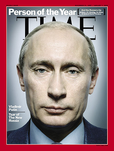 Extreme close up shot of Vladimir Putin