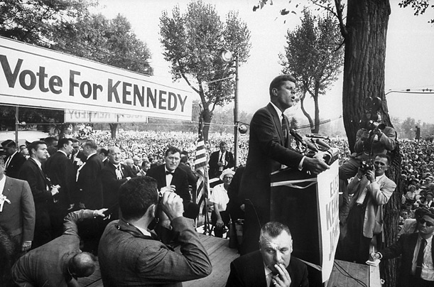 John F. Kennedy on the campaign trail, 1960