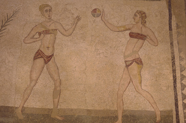 History of Bikini, Villa Romana Del Casale, in Sicily via www.time.com