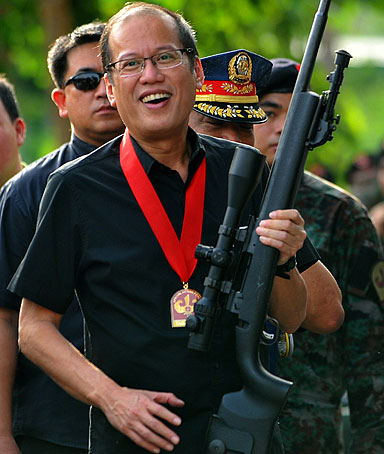 Only the elites, like Pres. Noynoy Aquino, can own guns in the Philippines.