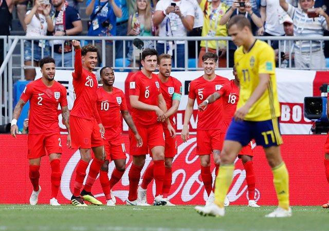 Image result for england at 2018 world cup vs sweden