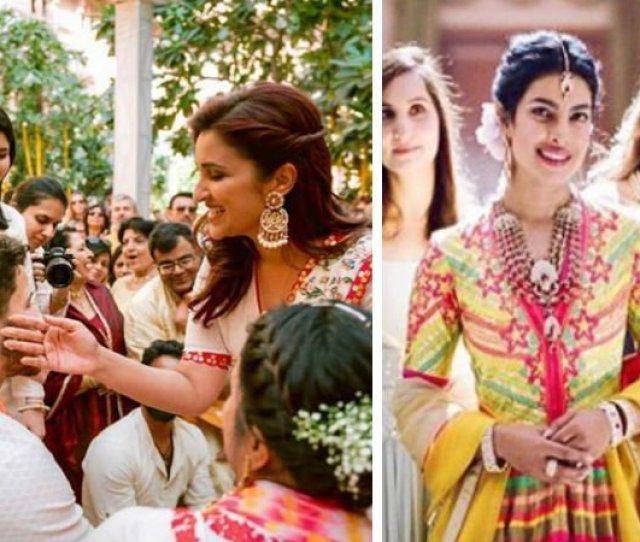 Nick Jonas Parineeti Chopra And Priyanka Chopra