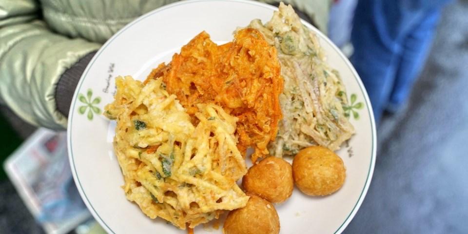新竹竹東美食 中央市埸素食炸菜。素食愛好者的炸物理及拜拜必用食物!