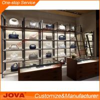 Retail mall showroom shoe showcase MDF bag display stand ...