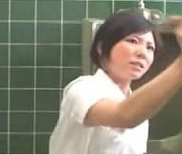 Piss Mosaic Japanese Nurse Handjob