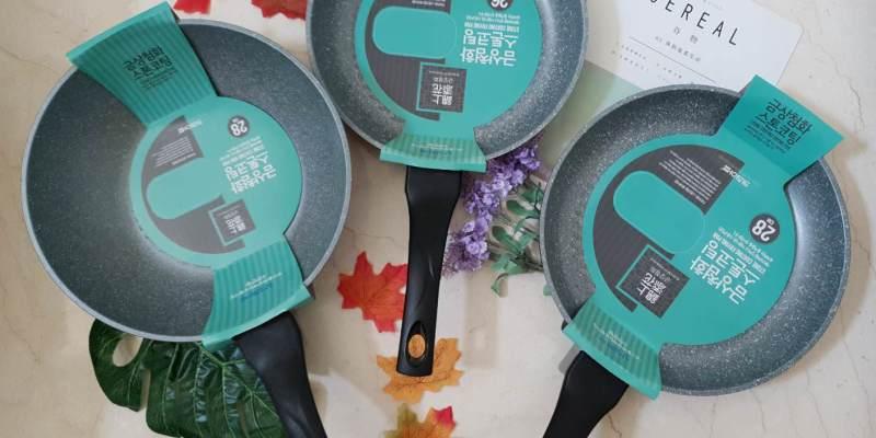 【廚房鍋具】 韓國Kitchen Art塗石不沾鍋-錦上添花系列/ 快速導熱 輕盈不沾鍋具組
