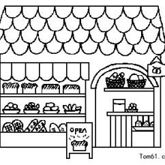Kitchen Utensils White Table Sets 小摊图片_简笔画图片_少儿图库_中国儿童资源网