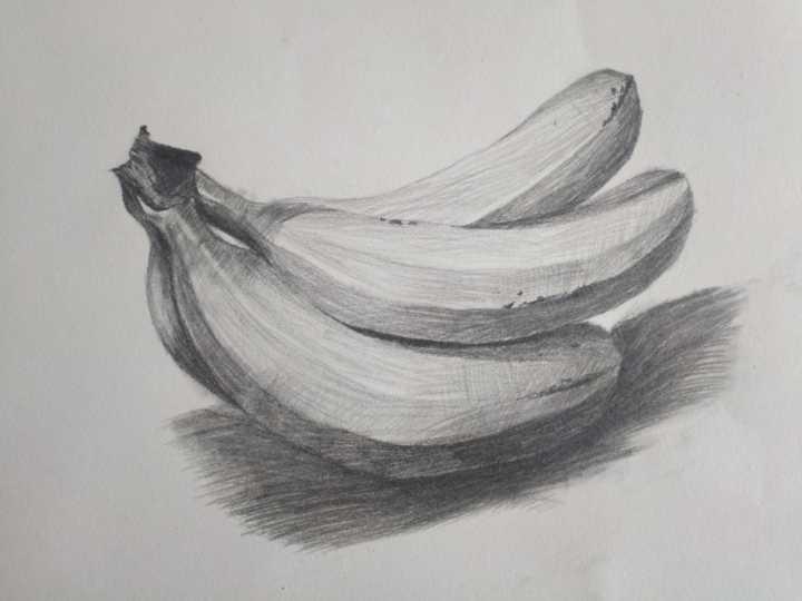 香蕉-素描圖集圖片_兒童素描_少兒圖庫_中國兒童資源網
