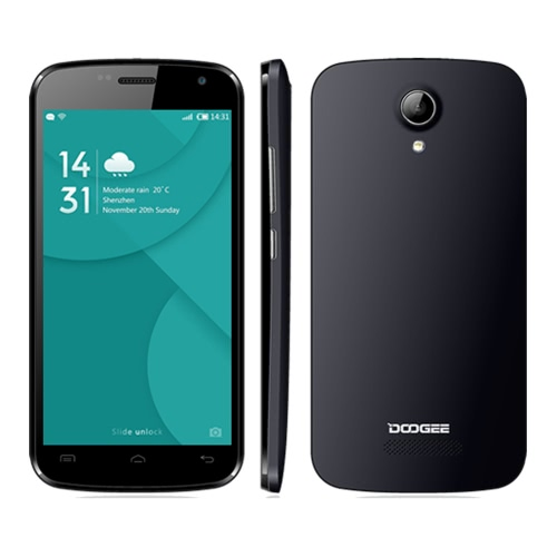 "DOOGEE X3 4.5"" HD 854*480 3G WCDMA MT6580 Quad-Core Android 5.1 Smartphone 1GB RAM 8GB 5.0MP 1800mAh Battery Dual SIM Cell Phone"