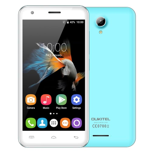 "OUKITEL C2 3G WCDMA Smartphone Android 5.1 Lollipop OS MTK6580M Quad Core 4.5"" IPS Screen 1GB RAM 8GB ROM 5MP 5MP Dual Cameras OTA"