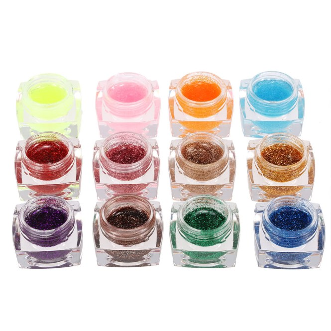 Only Us 10 84 12 Colors Professional Glitter Powder Uv Gel Nail Art Tomtop