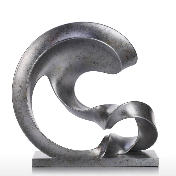And Cheap Silver Color Spoondrift Modern Sculpture Abstract Resin