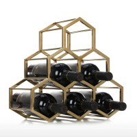 Best and cheap golden Honeycomb Wine Rack Metal Wine ...