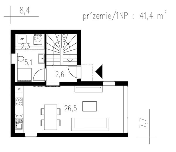 Projekt poschodového rodinného domu 1607