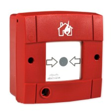 Manual Emergency Fire Alarm Button BS-536 Conventional Call Points with Test-Reset Key (Olympia Electronics - BS-536)