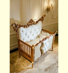 wy102 luxury antique baby crib gold