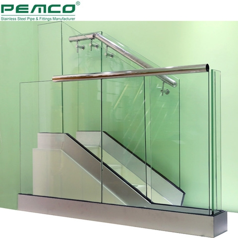 Balcony And Stair Handrail Frameless Design Balustrade Handrails | Staircase Handrail Glass Designs | Frosted Glass | Curved | Glass Baluster | Glass Painting | Glass Etching