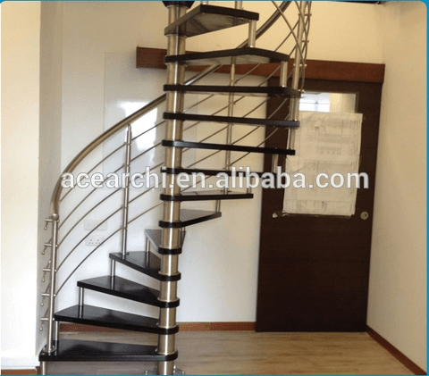 Diy Design Indoor Wrought Iron Wooden Spiral Staircase Prices   Wooden Spiral Stairs Design   Interior   Curved   Space Saving   Rustic   Contemporary