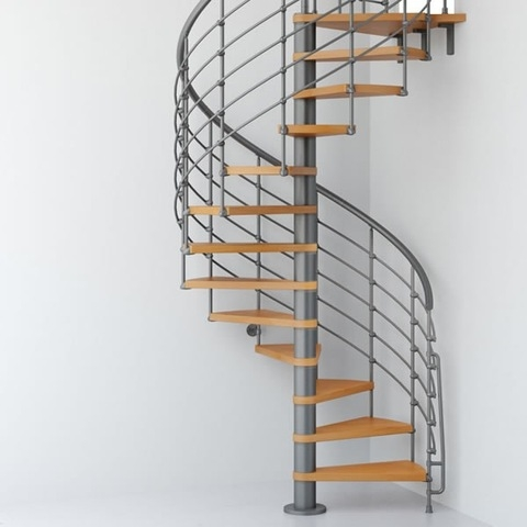 Prefabricated Exterior Metal Spiral Staircase Outdoor Iron Stairs | Prefabricated Exterior Metal Stairs | Stair Case | Stairways | Aluminum | Wrought Iron | Stair Treads