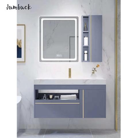Ensuite Vanity Design Luxury Dark Grey Modern Style Hanging Two Drawers Bathroom Vanities Wholesale Bathroom Furniture Products On Tradees Com