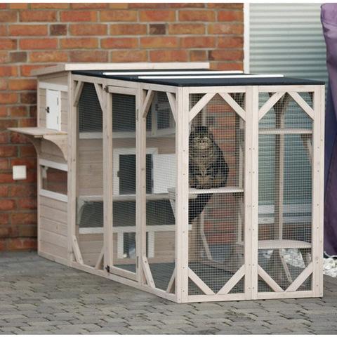 outdoor wooden cat patio online