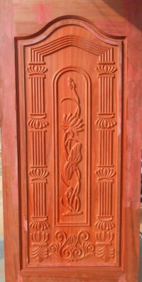 Wooden Carved Doors in Pollachi, Tamil Nadu, India