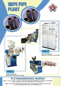 HDPE Pipe Plant Manufacturers, Suppliers and Exporters
