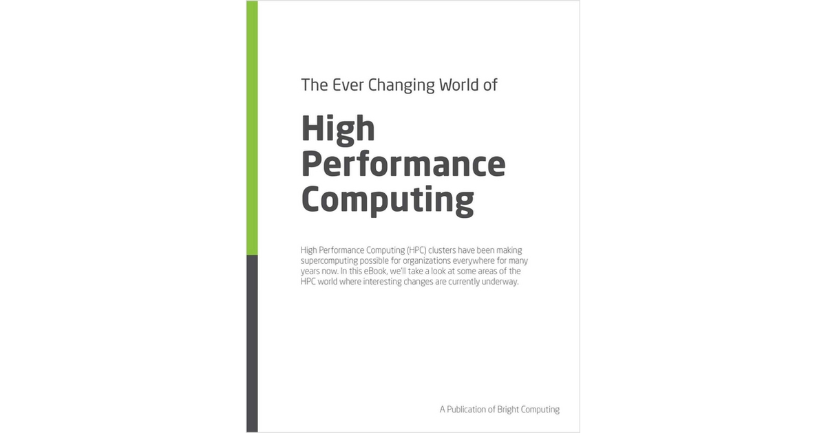 The Ever Changing World of HPC, Free Bright Computing eBook