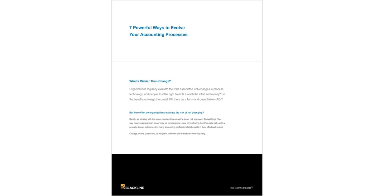 7 Powerful Ways to Evolve Your Accounting Processes Free