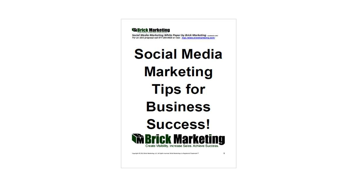 Social Media Marketing Tips for Business Success!, Free