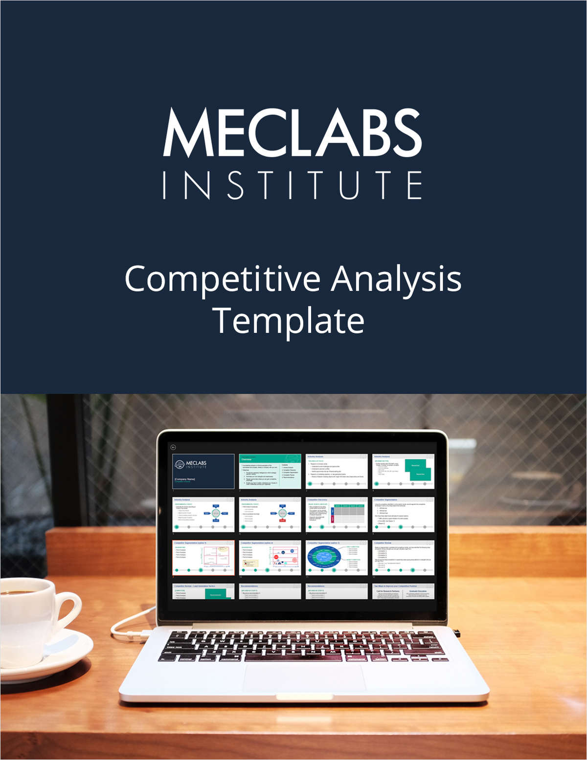 The Competitive Analysis Template From Meclabs, Free Marketingsherpa  Presentation