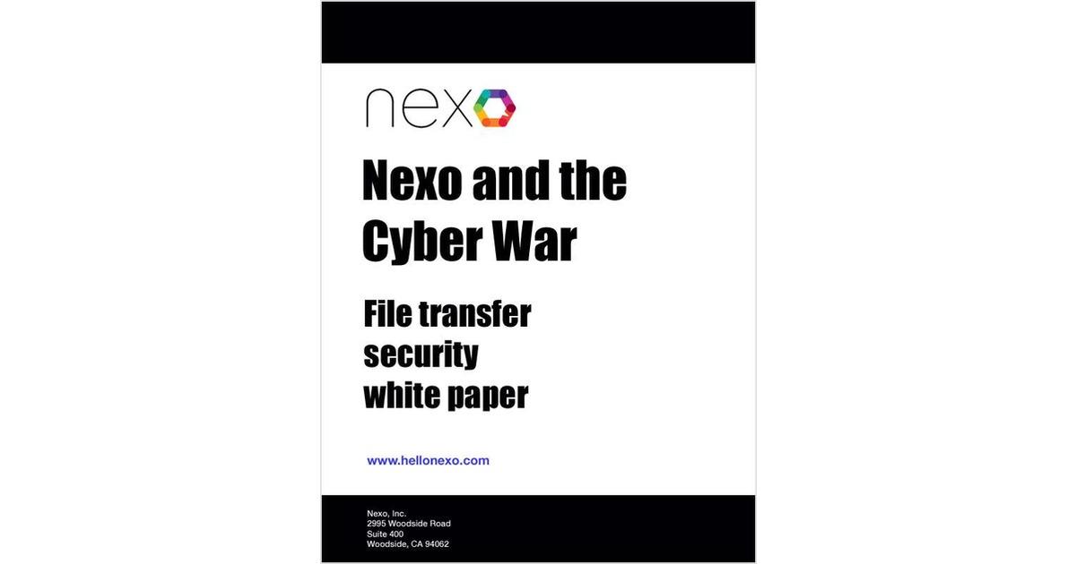 Nexo and the Cyber War, Free Nexo, Inc. White Paper