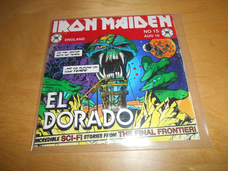 """Use as an alternative to a checking account. CD - Iron Maiden - PROMO - El Dorado - 7"""" paper ..."""