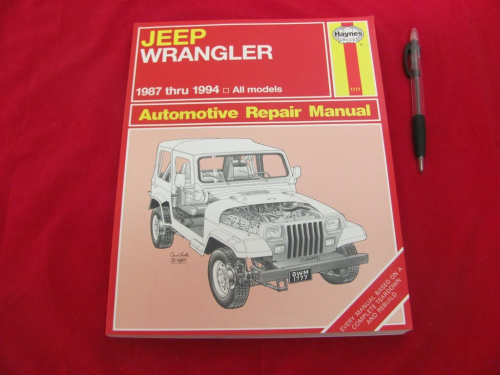 medium resolution of jeep wrangler 1987 1994 automotive repair manual 319188683 k p p tradera