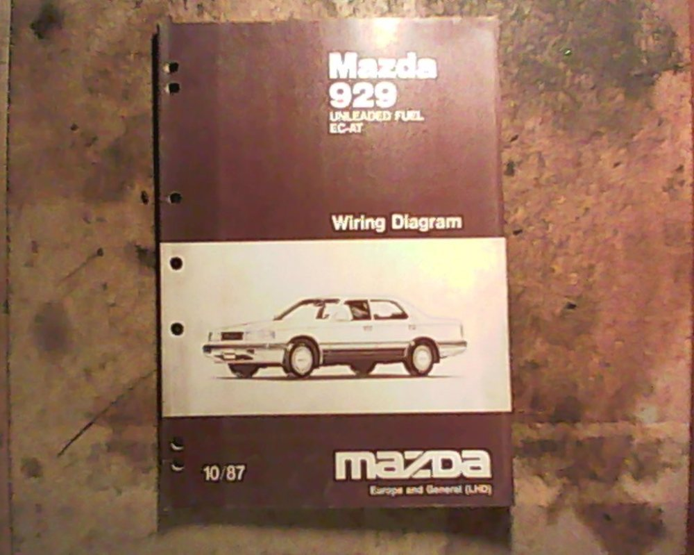 medium resolution of mazda 929 hc 1986 1991 verkstadshandbok kopplingscheman