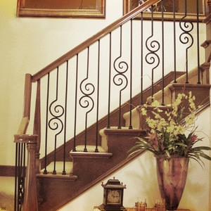 Real Estate Wrought Iron Railing Inside House Stair Balustrade   Railings Stairs Inside House   Wood   Cable Railing Systems   Deck Railing   Glass Railing Ideas   Banister