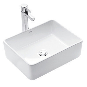Sanitary Wares Square Wash Hand Basin Sinks Countertop Faucet Wash Basin Lavatory Ceramic Vanity Art Bathroom Sink Wash Basin Sanitary Wares Square Wash Hand Basin Sinks Countertop Faucet Wash Basin Lavatory