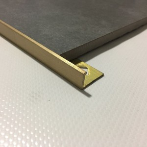 brass tile trim l shape u shape flat