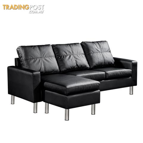 au sofa bed sofas beds melbourne pu leather couch 4 seater corner modular lounge suite ottoman black