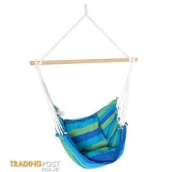 Swing Chair Sydney 14 Inch Round Cushions Hammock W Cushion Blue Green