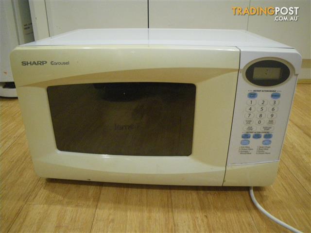 sharp carousel r 200k compact microwave oven 800watt 272mm diameter malvern east melbourne