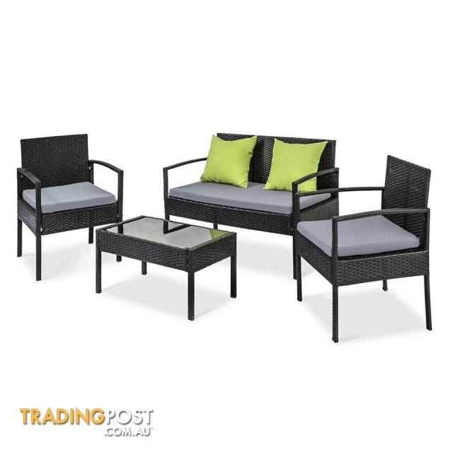 4pcs outdoor garden furniture set blackrzku for sale in east