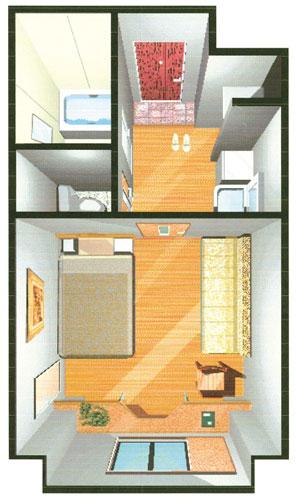 ホテル多治見ヒルズ マイルーム店(BBHホテルグループ)/客室