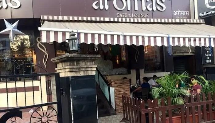 A view of Aromas Cafe in Mumbai