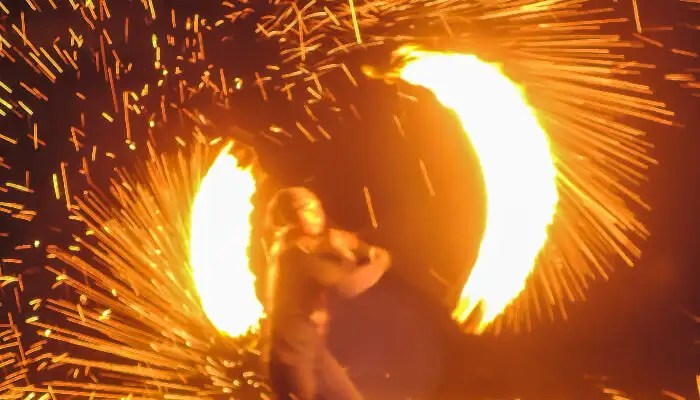 Fire show on Koh Lanta beach
