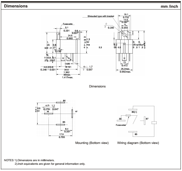 relay max switching voltage
