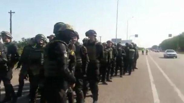 Поліція вдруге зупинила колону, що їде зустрічати Саакашвілі – Штаб блокади