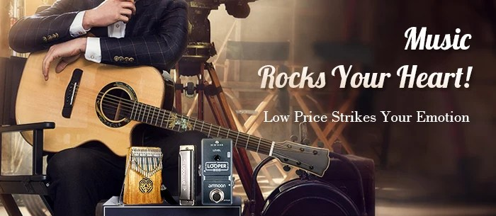 2018 Best Musical Instruments Rocks Your Heart, From $2.29 | Tomtop